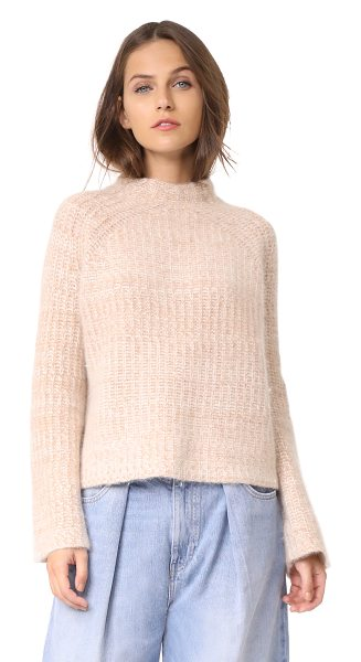 Demylee harris sweater in camel/white - Brushed fibers lend a cozy touch to this relaxed DEMYLEE...