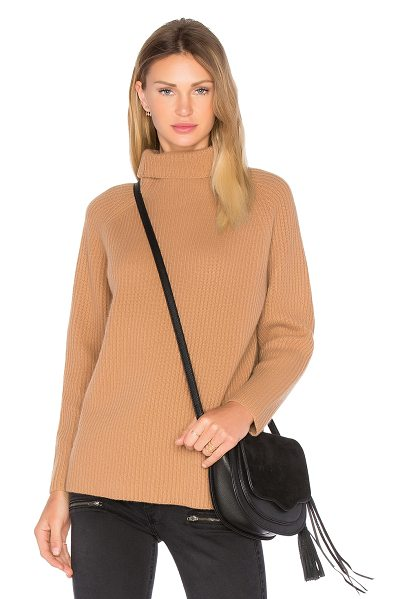Demylee Rita Turtleneck Sweater in brown - Cotton blend. Dry clean only. Rib knit fabric....