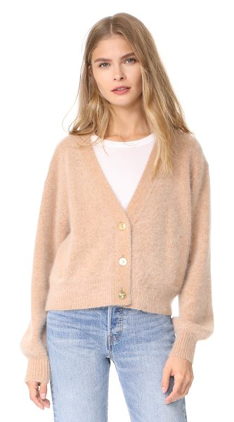 Demylee scotty cardigan in camel - A super-soft and fuzzy DEMYLEE cropped cardigan with...