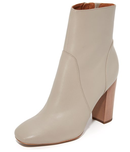 DEREK LAM 10 CROSBY alma booties in taupe - Sculpted panels lend a layered look to these smooth...