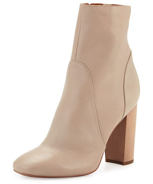 "DEREK LAM 10 CROSBY Alma Leather Ankle Boot in taupe - Derek Lam 10 Crosby smooth leather ankle boot. 4"" wooden..."