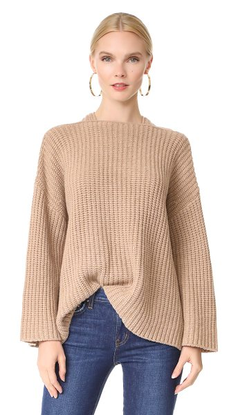 DEREK LAM 10 CROSBY crossover sweater in camel - This cozy Derek Lam 10 Crosby sweater is styled with a...