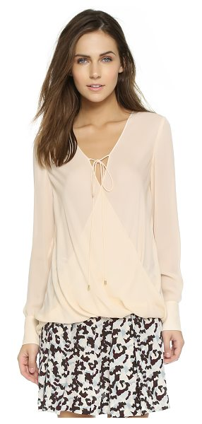 DEREK LAM 10 CROSBY Drape front top with tie - Crossover panels and an uneven hem give this Derek Lam...