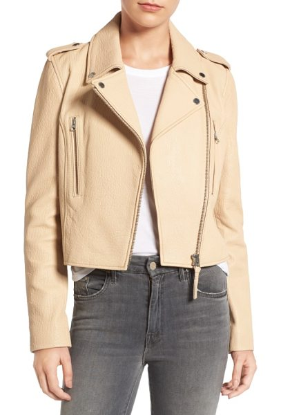 DEREK LAM 10 CROSBY leather moto jacket - Richly grained leather and prominent zip details enhance...