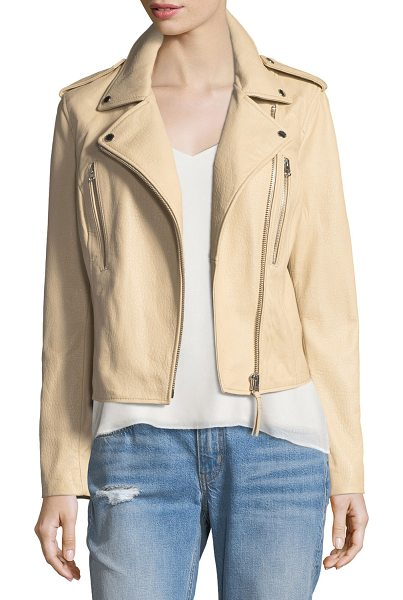 DEREK LAM 10 CROSBY Leather Motorcycle Jacket - Derek Lam 10 Crosby motorcycle jacket in lambskin...