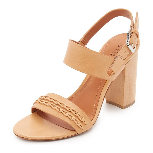 DEREK LAM 10 CROSBY Mandy sandals in natural - Smooth leather Derek Lam 10 Crosby sandals styled with...