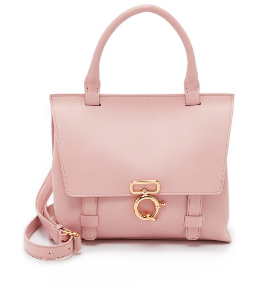 DEREK LAM 10 CROSBY Mini ave a top handle cross body bag in blush pink - A scaled down Derek Lam 10 Crosby satchel in smooth...