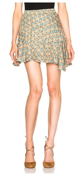 DEREK LAM 10 CROSBY Ruffle skirt - Self: 100% silk - Lining: 100% poly.  Made in China. ...