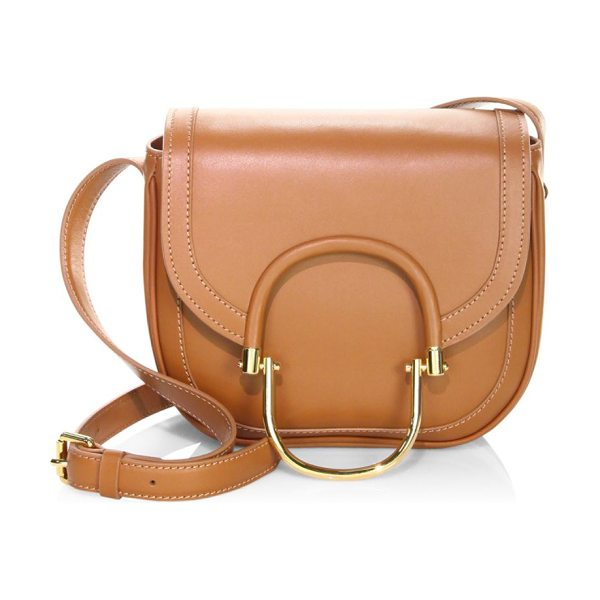 DEREK LAM hudson leather crossbody bag - Leather crossbody bag with front metallic detail....