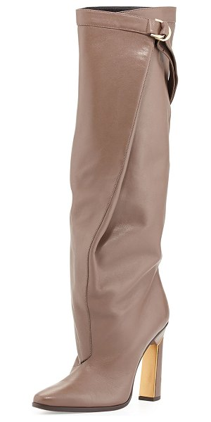 "DEREK LAM Tonya runway slouchy knee boot - Derek Lam napa leather knee boot. Approx. 17"" wide shaft..."