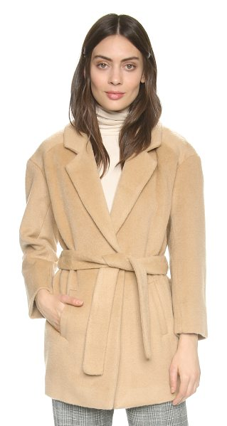 Designers Remix Panda coat in camel - A menswear inspired Designers Remix overcoat rendered in...
