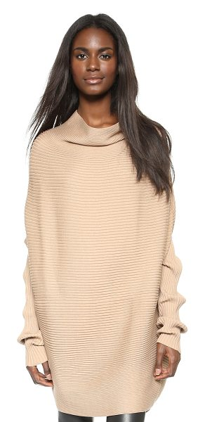 Designers Remix Ribly drape pullover in camel - A dramatic cowl neckline and batwing sleeves give modern...