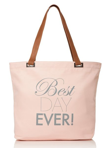 Dessy Collection 'best day ever' tote in rose - A perfect way to carry all your essentials, or a lovely...