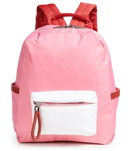 Deux Lux x shopbop backpack in pink colorblock - Fabric: Nylon Leather trim Silver-tone hardware Locker...
