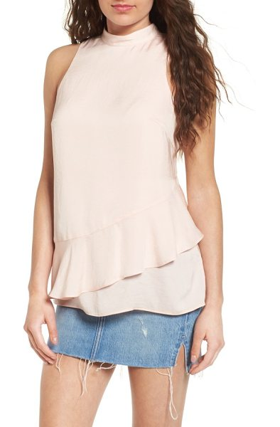 DEVLIN brandi asymmetrical tank - A ruffled asymmetrical hem heightens the romance of an...