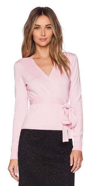 Diane Von Furstenberg Ballerina wrap sweater in pink - 46% silk 34% cotton 17% nylon 3% spandex. Dry clean...