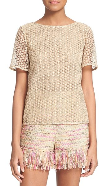 Diane Von Furstenberg brylee guipure lace top in gold - Crafted from softly lustrous guipure lace with a simple...