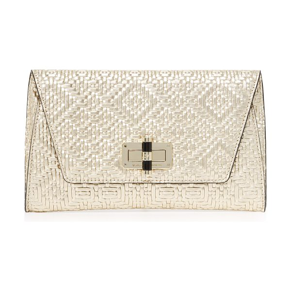 DIANE VON FURSTENBERG 440 gallery uptown clutch - Crisp woven leather composes this sophisticated DVF...