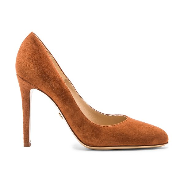 "Diane Von Furstenberg Gwendolyn heel in brown - Suede upper with leather sole. Heel measures approx 4""""..."