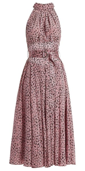 Diane Von Furstenberg High Neck Silk Dress in pink print - Diane Von Furstenberg - This pink DVF dress - printed...