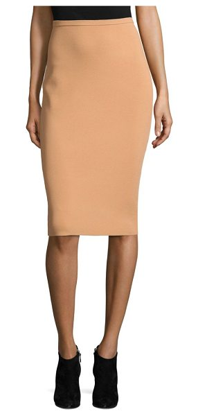 Diane Von Furstenberg knit pencil skirt in camel/black - Two-tone skirt featuring versatile silhouette. Banded...