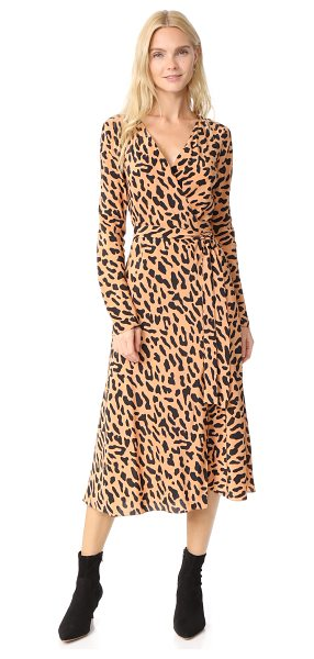 Diane Von Furstenberg l / s woven wrap dress in belmont camel - A signature DVF wrap dress in fine silk, detailed with a...