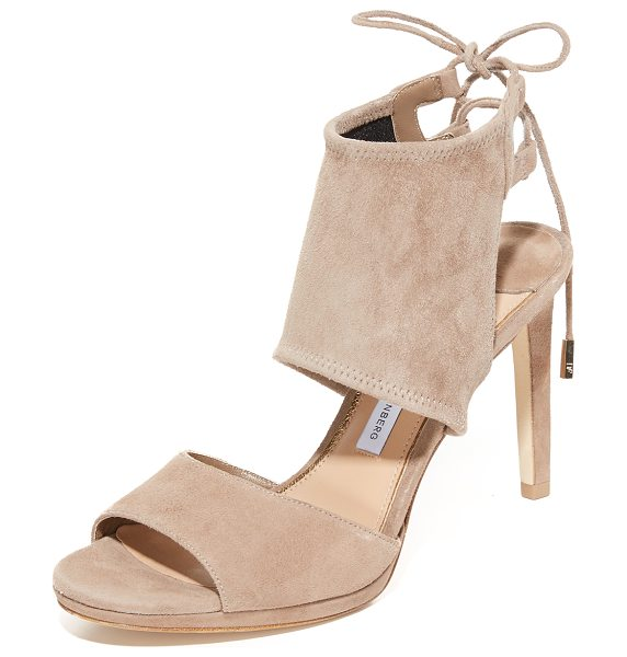 DIANE VON FURSTENBERG laie sandals - A substantial ankle cuff is secured with slim ties on...