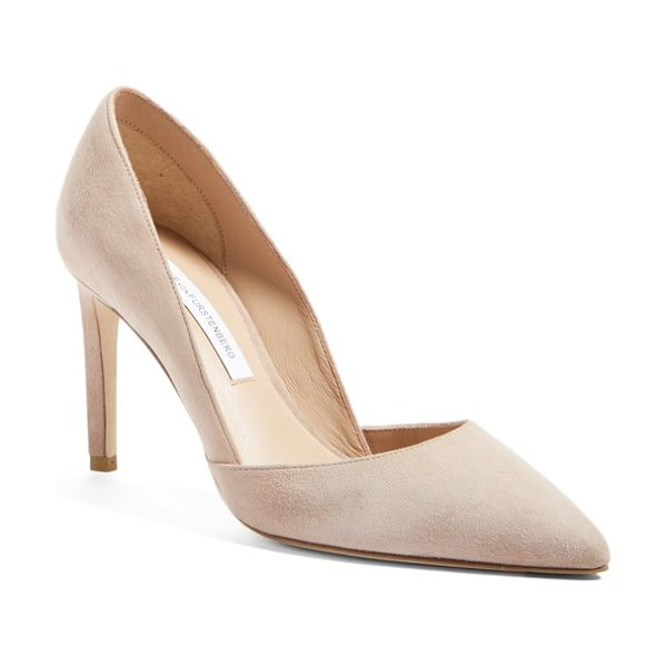 Diane Von Furstenberg 'lille' d'orsay pump in powder - A sculptural topline lends refined sophistication to a...