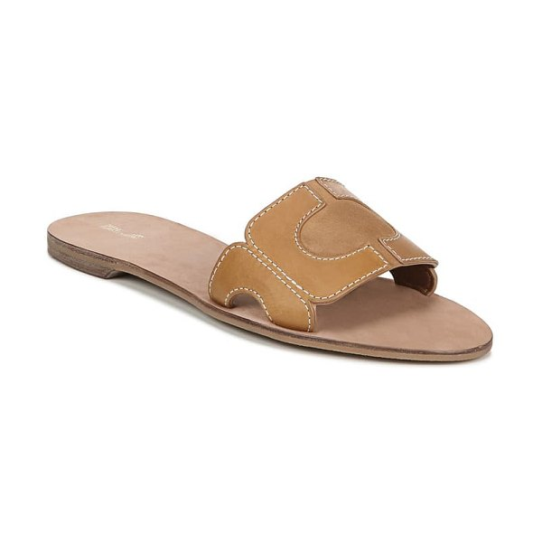 Diane Von Furstenberg link slide sandal in brown