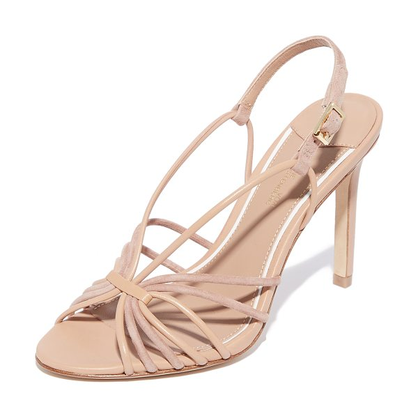 Diane Von Furstenberg milena strappy sandals in powder - Mixed leather and suede straps form the vamp of these...