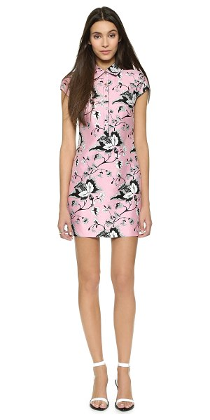 Diane Von Furstenberg Morgan dress in simple toile garden pink/black - A colorblock panel lends a contemporary touch to this...