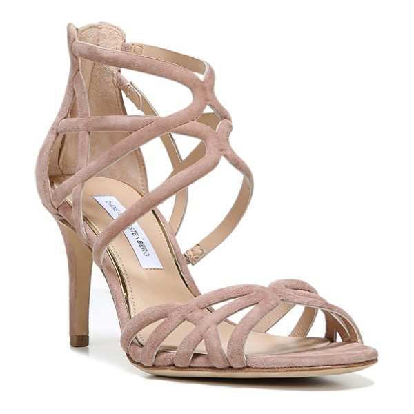 Diane Von Furstenberg 'rao' midi sandal in powder suede - Slender arcing straps embrace the toe and instep of this...