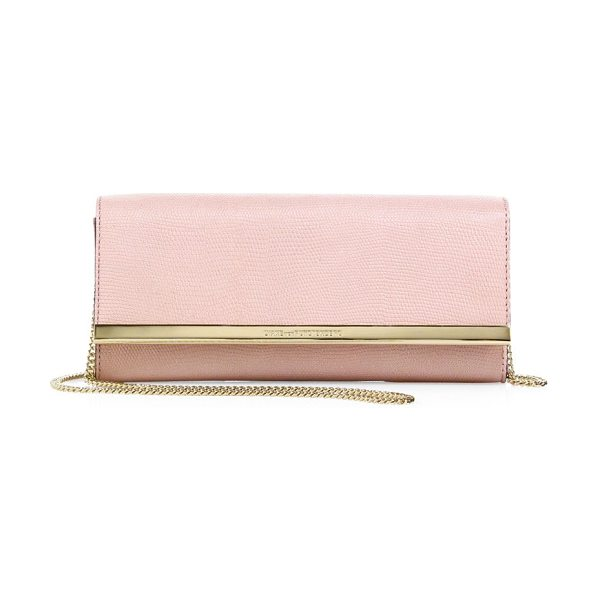 DIANE VON FURSTENBERG soiree embossed clutch - Petite crossbody in shimmery embossed leather. Chain...