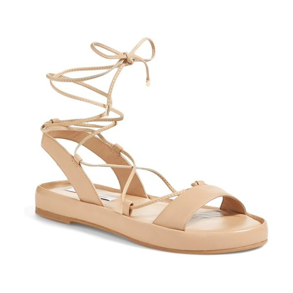 Diane Von Furstenberg susie gladiator sandal in natural - Slim gladiator laces further the old-school appeal of a...