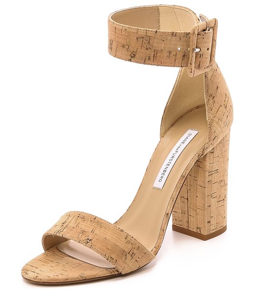 Diane Von Furstenberg Ulrica cork sandals in natural - Cork covered DVF sandals with a sense of natural...