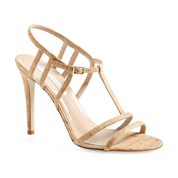Diane Von Furstenberg viola too sandal in natural - A clean-lined, strappy sandal channels impeccable modern...