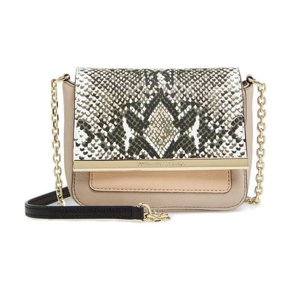 Diane Von Furstenberg Voyage in python med camo/ latte/ nude - Make a big impact with this mini bag from DVF-crafted...