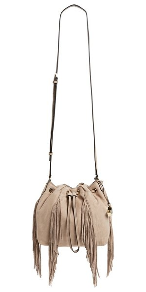 Diane Von Furstenberg Voyage fringe crossbody bag in sand - Dramatic fringe trim adds eye-catching movement and...