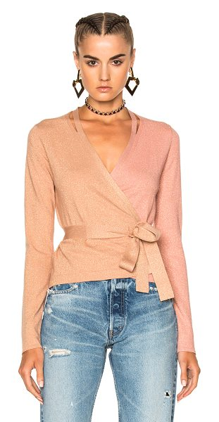 Diane Von Furstenberg Wrap Cardigan Top in nectar & dusty rose