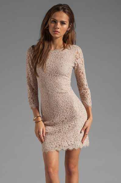 Diane Von Furstenberg Zarita Dress in beige
