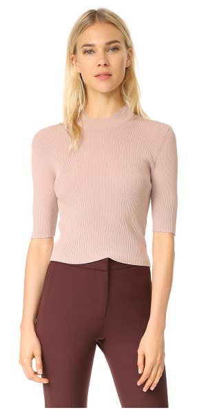 Dion Lee cropped tee in muted pink - NOTE: Sizes listed are UK/Australian. This sleek Dion...