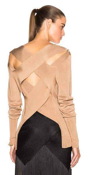 Dion Lee Line ii evening bandage back knit in brown