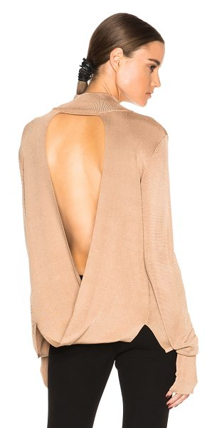 Dion Lee Line II Evening Loop Back Skivvy Sweater in neutrals - 90% rayon 10% nylon.  Made in China.  Knit fabric.  Cut...
