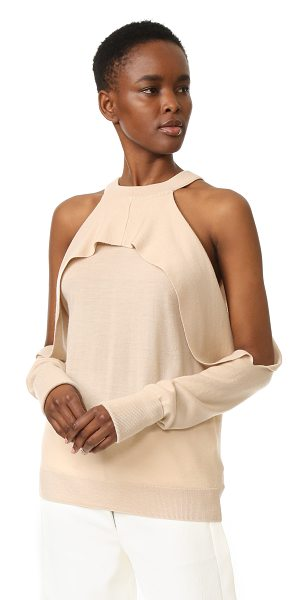 Dion Lee long sleeve knit top in blush - Description NOTE: Sizes listed are Australian. Please...