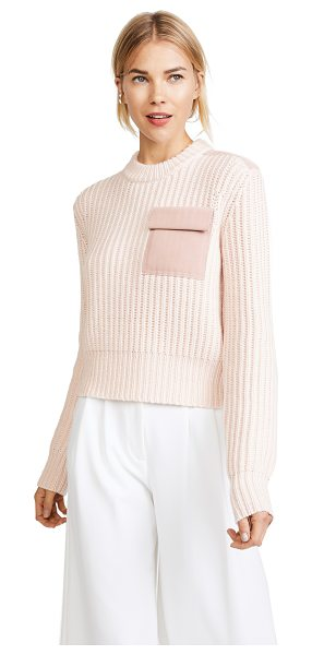 Dion Lee long sleeve pocket sweater in pink - This relaxed Dion Lee sweater is detailed with tonal...