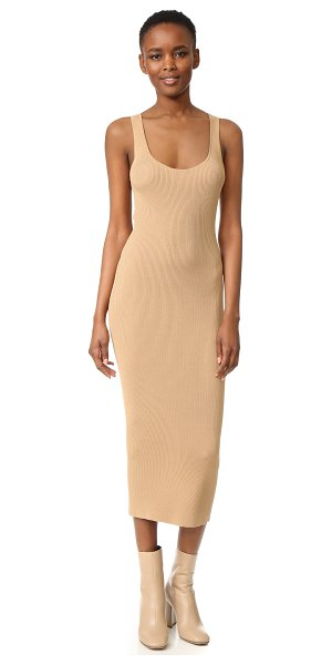 Dion Lee ribbed tank dress in camel - Description NOTE: Sizes listed are Australian. Please...