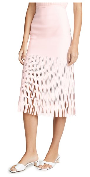 Dion Lee shadow perforated skirt in frost pink