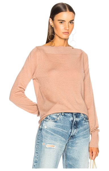 Dion Lee Spiral Loop Sweater in pink - 98% extrafine merino wool 2% spandex.  Made in China. ...
