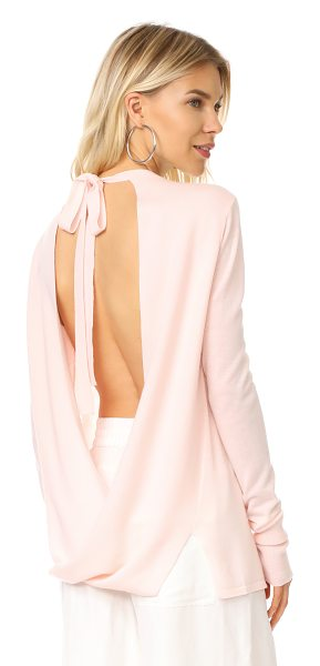 Dion Lee tie back sweater in pink - NOTE: Sizes listed are UK/Australian. This feather-light...