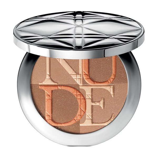DIOR Skin nude shimmer instant illuminating powder & kabuki brush - Diorskin Nude Shimmer Instant Illuminating Powder...